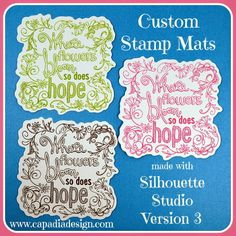 Capadia Designs: Custom Stamp Backgrounds made with Silhouette Studio Version 3
