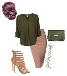 A fashion look from February 2016 featuring Vero Moda blouses, Doublju skirts and Diane Von Furstenberg clutches. Browse and shop related looks. Blue Skirt Outfits, Cute Modest Outfits, Cute Work Outfits, New Outfits, Casual Outfits, Fashion Outfits, Hijab Casual, Fashion Hats, Work Fashion