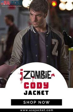 Izombie Season 02 Zack Peladeau Cody Letterman Jacket is Awesome Outfit For Men's Causal Clothing. Cool Outfits, Shop Now, Jackets, Men, Style, Down Jackets, Swag, Guys, Outfits