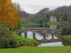 Stourhead. Near Mere, Wiltshire, UK. Temple of Apollo and Palladian Bridge can be seen in the 2005 movie Pride & Prejudice. http://www.nationaltrust.org.uk/stourhead/