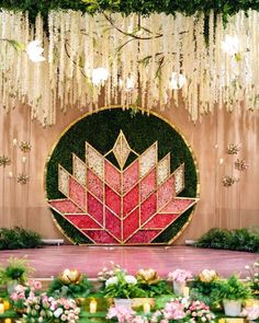You need the Pretty Perfect Setting to Say I do to May. These Indian Wedding Mandap decor ideas is the one detail you need make your day picture perfect. Desi Wedding Decor, Wedding Hall Decorations, Marriage Decoration, Backdrop Decorations, Flower Decorations, Backdrops, Backdrop Ideas, Engagement Stage Decoration, Floral Wedding