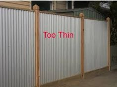 Image result for corrugated iron fencing ideas Corrugated Metal Fence, Metal Fences, Steel Fence, Wooden Fence, Metal Roof, Porches, Outdoor Spaces, Outdoor Living, Privacy Fences