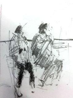 Tony Allain, waiting for the train
