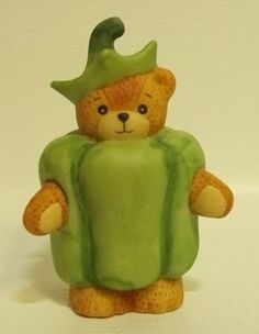 Enesco Lucy & Me Teddy Bear Vegetable Green Pepper Lucy Rigg
