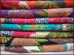 Hot Selling SET OF 10 kantha quilts MarieChristine's by ArazzoWelt