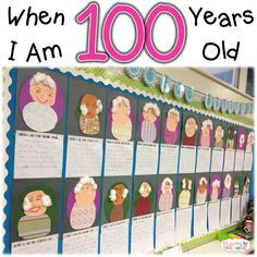 Fluttering Through First Grade Day of School lesson plan ideas 100 Day Of School Project, 100 Days Of School, School Holidays, First Day Of School, School Projects, School Ideas, 100th Day Of School Crafts, School 2017, First Grade Writing