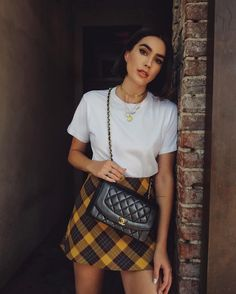 Shop the Look from Brittany Xavier on ShopStyleSunday best 🖤 T Shirt Branca, Summer Outfits, Cute Outfits, Work Outfits, Street Style, Fashion Outfits, Womens Fashion, Ootd Fashion, Shirt Outfit