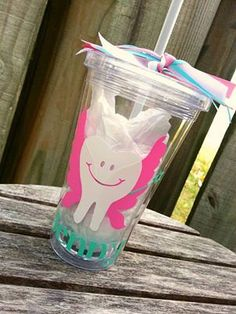 Tooth Fairy/Dental Hygienist Tumbler by TheVinylPolkaDot on Etsy, $13.00