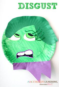 Inside Out Paper Plate Kids Craft Disgust