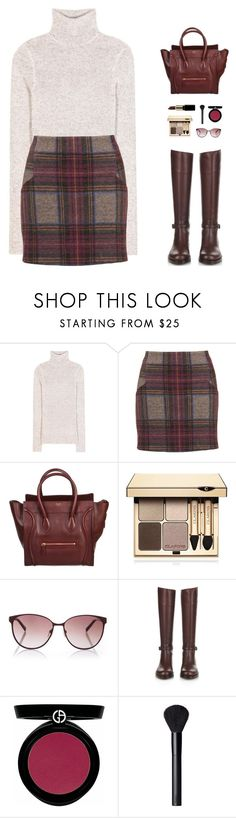 """""""I'm trying my hardest not to act exactly how I feel."""" by are-you-with-me ❤ liked on Polyvore featuring Tom Ford, Topshop, CÉLINE, Clarins, MaxMara, Gianvito Rossi, Giorgio Armani and NARS Cosmetics"""