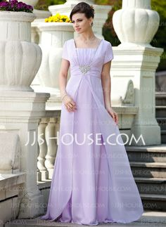 Mother of the Bride Dresses - $142.99 - A-Line/Princess Square Neckline Floor-Length Chiffon Mother of the Bride Dress With Ruffle Beading Sequins (008024570) http://jjshouse.com/A-Line-Princess-Square-Neckline-Floor-Length-Chiffon-Mother-Of-The-Bride-Dress-With-Ruffle-Beading-Sequins-008024570-g24570