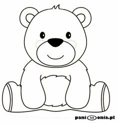 - Her Crochet Bear Coloring Pages, Coloring Books, Coloring Pages For Kids, Teddy Bear Outline, Teddy Bear Drawing Easy, Bear Songs, Quiet Book Templates, Bear Theme, Bear Pictures