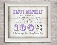 100 Years Old Birthday  Gift for Mimi  Old by moonlightgraphics, $16.00
