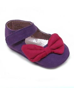 Top off any ensemble off with a bow. Featuring an easily adjustable strap and delightful colors, these mary janes are a charming and practical addition to any dainty ensemble. Mini Monster, Mary Janes, Baby Shoes, Take That, Bows, Purple, Color, Daily Deals, Babies