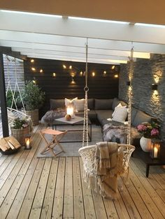Gorgeous Backyard Patio Deck Design and Decor Ideas Inspiring You - Pergola Ideas Backyard Patio Designs, Pergola Patio, Backyard Landscaping, Modern Pergola, Patio Ideas, Pergola Ideas, Firepit Ideas, Gazebo, Corner Pergola