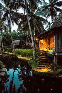 Padi House at dusk.