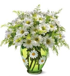 Crazy For Daisies by Lowe's Florals. Love that vase