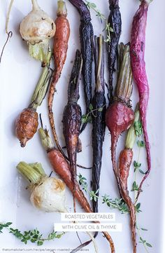 Vegan Roasted Baby Vegetables- Carrots, Beets, Turnips, & Radishes — The Tomato Tart Also, win gorgeous Italian Olive Oil from Jovial