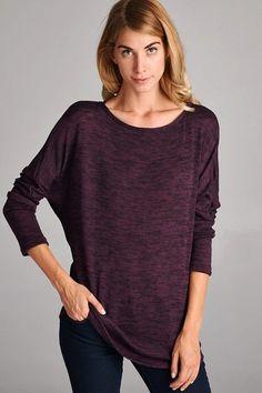 Autumn Dusk Top in Purple