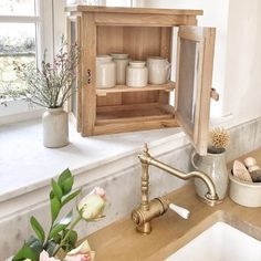 Handmade white oak garde manger/fromanger available in the store. Use them in the kitchen, for display or on the bathroom ( make wonderful cabinets to hold your soaps and bubble baths ) there's a 3 week lead on each custom item and ship directly to your home from France 🇫🇷 #handmadewithlove #whiteoak #frenchfarmhousekitchen #vivietmargot Kitchen Sink Design, Kitchen Sink Organization, Sink Organizer, Kitchen Decor, Kitchen Designs Photos, Bubble Baths, Soap Display, White Oak, Beautiful Kitchens