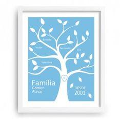 Decorativo árbol familiar que da la posibilidad de introducir hasta 3 generaciones. - www.miarbolfamiliar.es