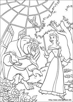 Beauty And The Beast Coloring Picture