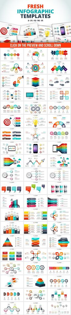 Business infographic : Infographic templates bundle by Abert on Creative Market