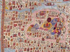Map shawl, woollen embroidery, Kashmir, 19th century. © Victoria and Albert Museum --- enlarge and look closely to get the amazing details!