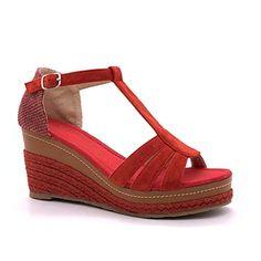 d5c7783da2f887 Angkorly - Chaussure Mode Sandale Espadrille lanière Cheville Plateforme  Femme Corde tréssé lanière Talon compensé Plateforme