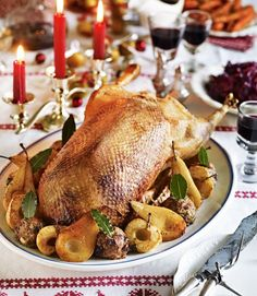 471652-1-eng-GB_maple-glazed-roast-goose-with-chestnut-stuffing-and-sticky-apples-pears