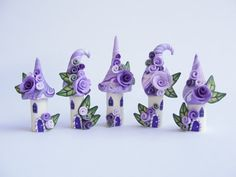 Fairy house polymer clay fimo sculpey village miniature