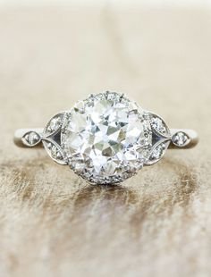 Rachael February 2015 Halo Ethical Engagement Ring from Ken and Dana Designs