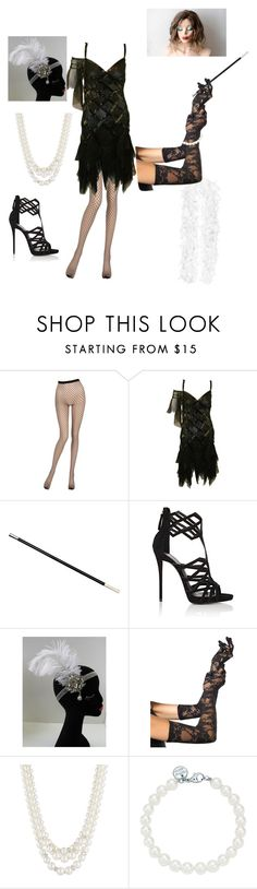 """Untitled #25"" by wearefandoms ❤ liked on Polyvore featuring La Perla, Giuseppe Zanotti, Leg Avenue, Anne Klein, Tiffany & Co., halloweencostume and DIYHalloween"