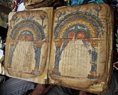 Abba Garima Gospels dating from before 560  -  At the Wyvern Bindery - excellent article on book binding and preservation