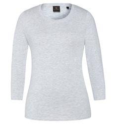 David Lawrence: Kasey crop sleeve cotton modal tee (grey marle) David, Tees, Sleeves, Sweaters, Cotton, Closet, Fashion, Moda, T Shirts