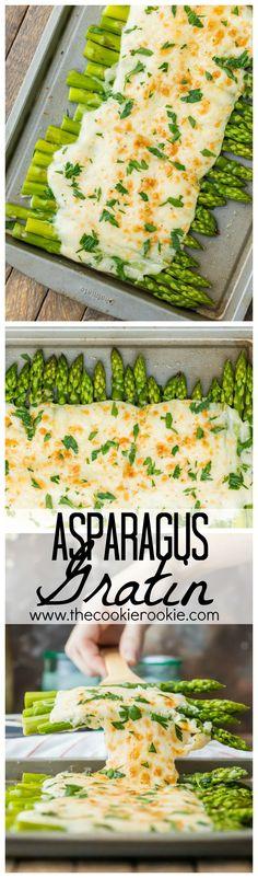Three Cheese Asparagus Gratin   The Cookie Rookie   Bloglovin'