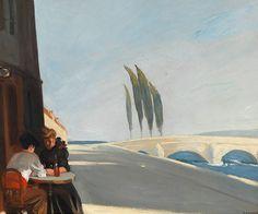 Edward Hopper (1882-1967), Le Bistro or The Wine Shop, 1909. oil on canvas, 61 x 73,3 cm