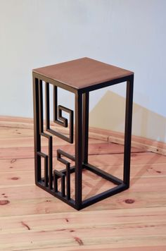 labyrinth, iron, wood, stool, taboret, stolik, Kraina ES   #stool, #minimalism, #table, #industrial, #designstyle, minimal stool, #krainaes, #handcraft, #craft, #taboret, #stołek, #krzesełko, #krzesło, #minimalizm, #minimal, #ręczniewykonany