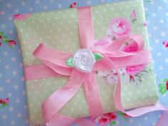 Shabby Chic Polka Dot and Floral Fat Quarter Bundle