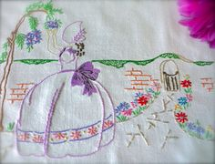 Check out this item in my Etsy shop https://www.etsy.com/uk/listing/470114502/hand-embroidered-vintage-crinoline-ladys