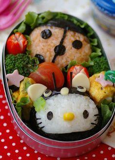 hello kitty & ladybug #bento #kids #lunch
