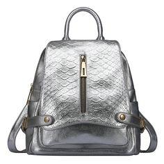 2016 otoño y el invierno tendencia mochila de viaje de cuero serpiente prácticas bolsos de mujeres [AL93160] - €70.59 : bzbolsos.com, comprar bolsos online