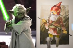 Famous Movie Characters Compared to How They Were Originally Imagined - Yoda