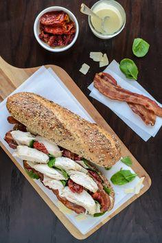 Chicken Caesar Sandwiches. All the flavor of a chicken Caesar salad, combined with a club sandwich