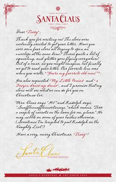 For Personalized Letter From Santa And Rudolph  Surprises