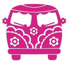 Minibus VW Peace and Love rose : transfert velours Window Decals, Vinyl Decals, Wall Decals, Car Decal, Silhouette Cameo Projects, Silhouette Design, Car Silhouette, Silhouette Cameo Files, Silhouette Studio