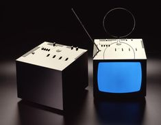Black  1970 Television set Brionvega  With Marco Zanuso  Honourable Mention at Bio 5 Ljubljana 1973 Selection Compasso d'Oro 1970