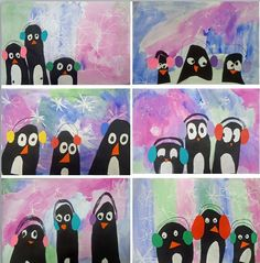 My 1st graders cute penguins!