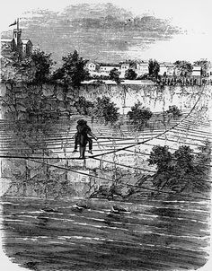 Blondin Walked Across Niagara Falls By Tightrope: Blondin's Feat Illustrated