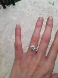 Beautiful Engagement Ring On Finger Photos 7